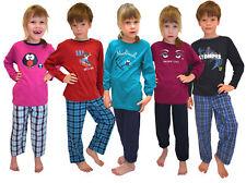 Langer Kinder Schlafanzug Mädchen oder Jungs Grössen 104 - 164 100% Baumwolle