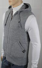 Polo Ralph Lauren Grey Quilted Hoodie Vest Zip Sweatshirt Black Pony NWT