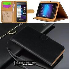 Negro Tapa Magnética Funda Soporte Cartera Cuero para Varios Blackberry Teléfono