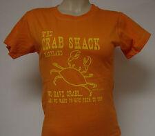 NEW Girls Juniors DAVID & GOLIATH The Crab Shack We Have Crabs Orange T-Shirt