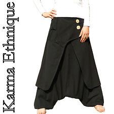 SAROUEL CREATEUR (du 36 au 52) Coton NEPAL pantalon vetement ethnique SA04 Noir