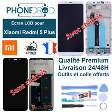 Écran complet LCD + tactile Xiaomi Redmi 5 Plus + Outils et colle, stock FR