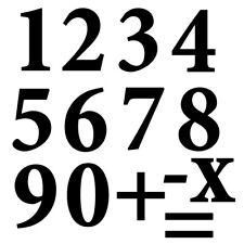 Sticker Planche Chiffres, numéro 0 à 9, 18 Coloris et 4 tailles dispo (CHIF004)