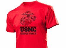 Maglietta USMC insegne Semper Fidelis MARINES SEALS US Army VIETNAM S-XXL
