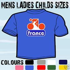 TOUR DE FRANCE CYCLING BIKE T-SHIRT ALL SIZES & COLOURS