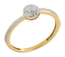 Damenring 375 Gold Weißgold bicolor 0,09 ct Diamanten Brillanten Verlobungsring