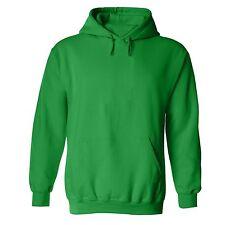 Unisex /Women Pullover Hooded Sweatshirt Hoodie Jumper Basic S-6XL Green