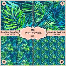 Areca palm leaf, Jungle leaves Pattern Printed HTV, siser,craft Vinyl-  398
