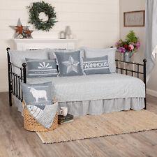 VHC Farmhouse Daybed Quilt Set Sawyer Mill Ticking Stripe Bedding Cotton