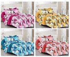 100% Cotton Bed Sheet Pillow Case Cover 201-400 TC Home Décor Bedspread Bedding