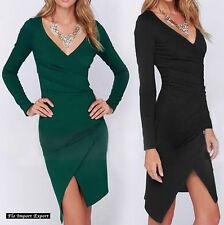 Vestito Mini Donna Asimmetrico Tinta Unita Woman Plain Mini Dress 110253