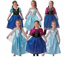 Le ragazze con licenza Disney Frozen Anna Elsa classica Deluxe musicale luce fantasia S M L