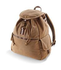 Vintage Canvas Rucksack - Used Look Backpack für Damen & Herren, 18L (Quadra)