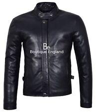 Hombre Nuevo 3890 Negro Biker Rider Moda Estilo Real Suave piel de cordero cuero chaqueta