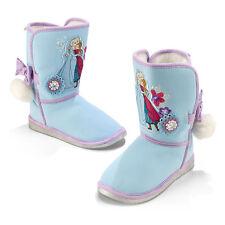 NEW Disney Store Frozen Anna & Elsa Winter Boots Faux Leather & Fur Lining  8-12