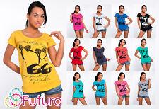 Sexy Women's Top HEELS Print Crew Neck Short Sleeve T-Shirt Sizes 8-14 FB24