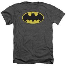 Batman Classic Official Logo Licensed DC Comics Heather Charcoal T-Shirt New