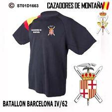 CAMISETAS TECNICAS CAZADORES DE MONTAÑA: BATALLON BARCELONA IV/62  M1
