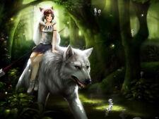 Princess Mononoke Wolf Amazing Anime Manga Art Huge Giant Print POSTER Affiche
