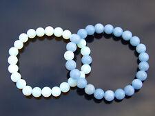 Couple Opalite/Angelite Natural Gemstone Bracelet 6-9'' Elasticated Healing