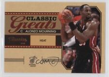 2010-11 Panini Classics Classic Greats #10 Alonzo Mourning Miami Heat Card
