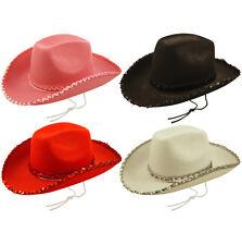 Cowboy Hat  ladies Look Wild West - Women's Ladies Fancy Dress Costume 3 Colours