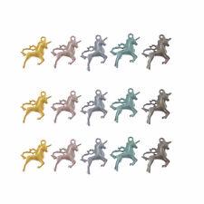 Lot of 10 Mini Cute Unicorn Look Metal Charm Earrings Pendants Jewelry Findings