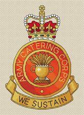 """Cuerpo de servicio Ejército Real Diseño de punto de cruz 8x8/"""", 20x20cm, Kit o el cuadro"""