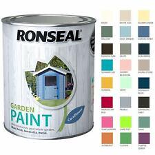 Ronseal 2.5 Litre Garden Paint Rainproof Exterior Outdoor Wood Shed Metal Brick