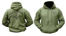 Mens Army Combat Military Hoodie Hooded Sweat Shirt Top Para Parachute Regiment