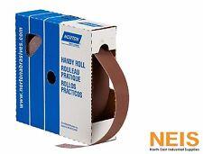 Metal Cloth Roll, Norton Handy Roll, 80# to 320#, 25mm x 50M Emery Paper Rolls