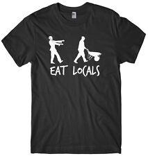 Eat Locals Zombie Mens Funny Unisex Halloween T-Shirt