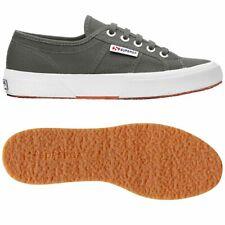SUPERGA 2750 SCARPE UOMO DONNA TENNIS sneaker calzature TELA Grigio SALVIA M38mk
