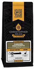 Christopher Bean Coffee CARAMEL MACHIATTO Flavored Coffee 1-12-Ounce Bag