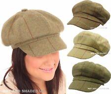 New Bakerboy Hat Gatsby Tweed Flat Cap Mens Ladies 8 Panel Newsboy 100% wool
