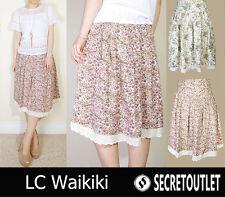 LC Waikiki Beige Floral Print A-line Skirt