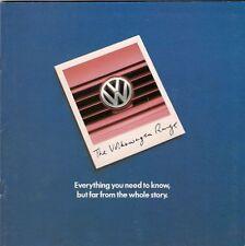Volkswagen 1997 UK Market Mailer Sales Brochure Polo Golf Vento Passat Sharan