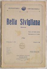 1929 CARLO GIUSO GOLA BELLA SIVIGLIANA MUSICA SPARTITI
