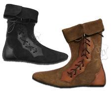 Mittelalter Schuhe Stiefel Echt Leder Rauhleder braun oder schwarz LARP