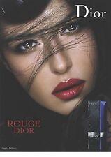 PUBLICITE ADVERTISING 2006  DIOR  rouge à lévres porté par Monica BELLUCCI