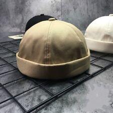 unisexe bonnet réglable DAMES beige béret DOCKER capuchons camionneur chapeaux