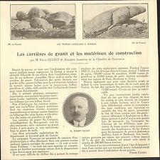 23 CARRIERES DE GRANIT ET MATERIAUX DE CONSTRUCTION ARTICLE PRESSE PIERRE CLUZET