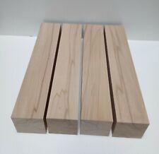 4 Tischfüsse 9x9cm stark. Drechselholz Kantholz Kernbuche massiv. Wunschmaße.