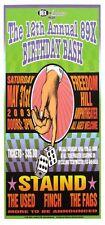 Staind Concert Handbill Finch The Used The Fags Artist Mark Arminski