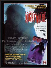 TWISTED NIGHTMARE__Original 1989 Trade AD movie promo__RHONDA GRAY_JULIET MARTIN