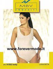 Body donna MBV spalla larga in calda lana seta con profili raso art 91502