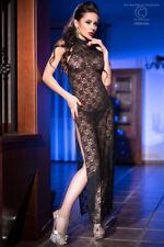 Chilirose - Lang zwarte kanten jurk - STOCKVERKOOP