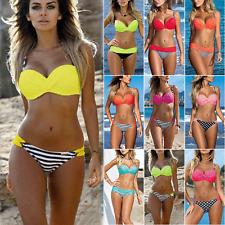 Randolly Women Bikini,Ladies Plus Size Costume Padded Swimsuit Monokini Push Up Bikini Sets Swimwear