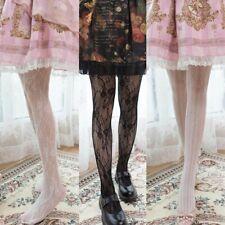 Lace Vintage Japanese Girl Lolita Sweet Stripe Hollow Pantyhose Tights Harajuku