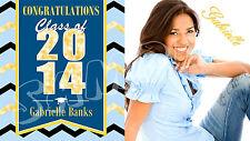 Graduation Banner Personalized Custom Design Indoor Outdoor Party High School